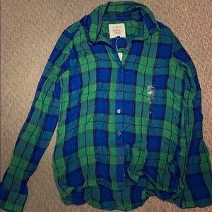 NWT plaid shirt